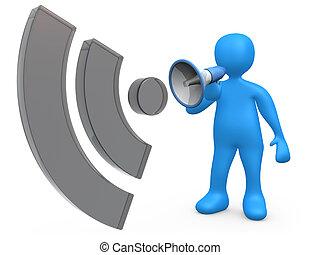 Blog Communication - Computer generated image - Blog...