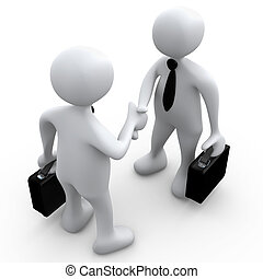 Business Agreement - Computer Generated Image - Business ...