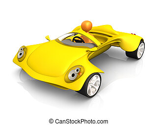 Concept Car - Computer generated image - Concept Car .