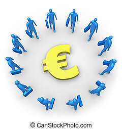 Corporate Income - Euro - Computer generated image -...