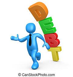 Debt - Computer Generated Image - Debt .
