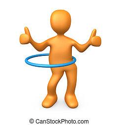 Hoop Dancer - Computer generated image - Hoop Dancer .