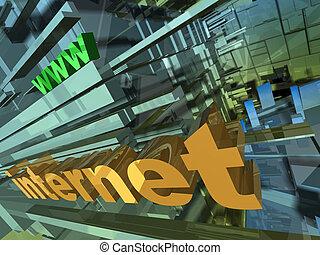 Internet Design - Computer generated image - Internet...
