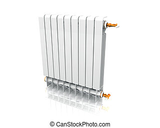 Computer generated image of a heating radiator