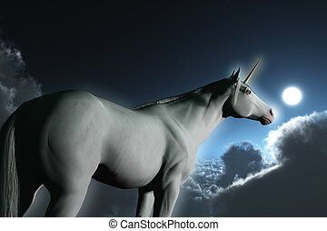 A Unicorn - Computer Generated Image Of A Unicorn