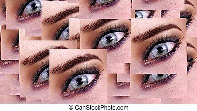 Computer generated image of female eyes