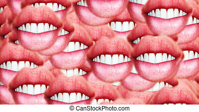Computer generated image of female lips
