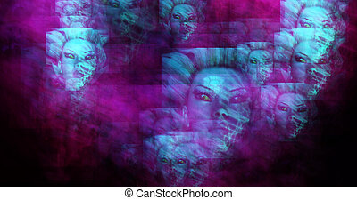 Computer generated image of surreal fairies