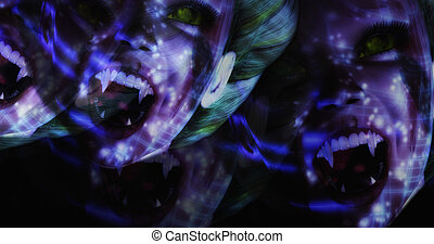 Computer generated image of surreal vampires