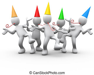 Computer Generated Image - Party Time .