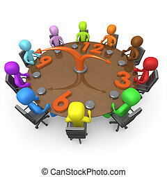 Computer generated image - Scheduled Meeting .