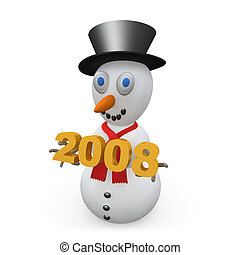 Snowman 2008 - Computer generated image - Snowman 2008