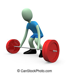 Sports - Weight-lifting #1 - Computer generated image - ...