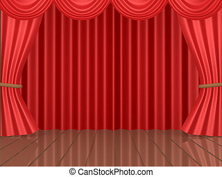 Theatrical Stage - Computer generated image - Theatrical...