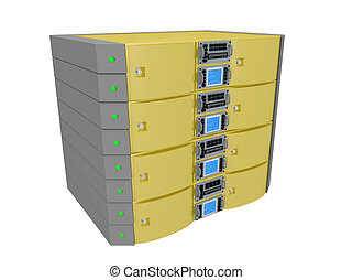 Twin Server - Yellow - Computer generated image - Twin...