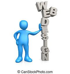 Computer Generated Image - Web Design .