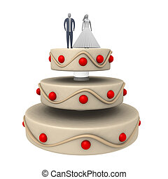Computer generated image - Wedding Cake.