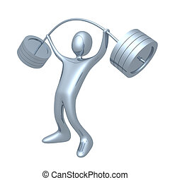 Computer generated image - Weightlifter.