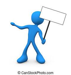 Presentation Sign - Computer generated imaged - Presentation...