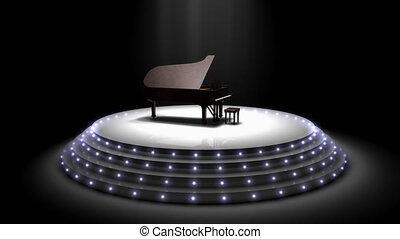 "Majestic piano performance stage spotlights. - ""Computer ..."