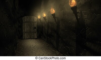 """""""Computer generated, Medieval castle passageway."""""""