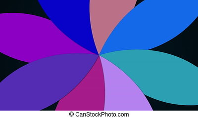 Computer generated modern background from multicolored flower with petals. Colorful pattern. 3D rendering