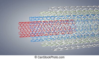 """Computer generated, Science and technology multilayer carbon nanotube."""