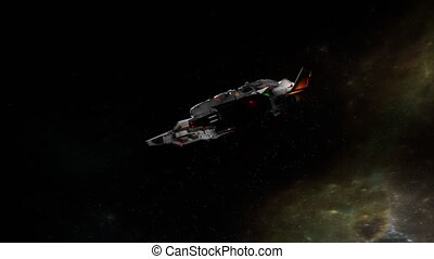 """Science fiction spaceship - """"Computer generated, Science ..."""