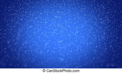 seamless loop snowfall on blue