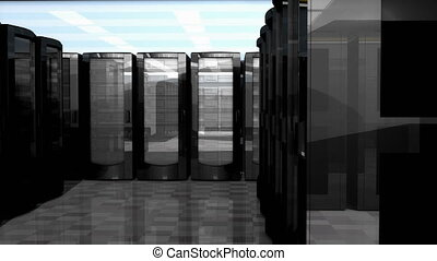 """Server and database room. Technology and equipment. - """"..."""