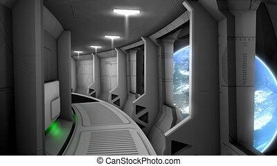 "Spaceship corridor scene - ""Computer generated, Spaceship ..."