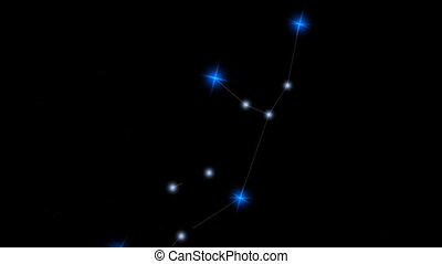 "Star constellation Virgo. - ""Computer generated, Star ..."