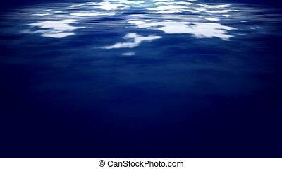 Computer generated video of underwater scene