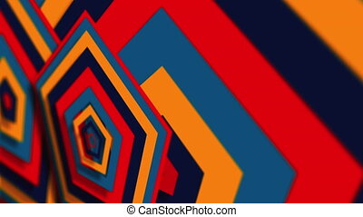 Computer generated web modern backdrop. Colorful pattern. 3D rendering abstract geometric shapes