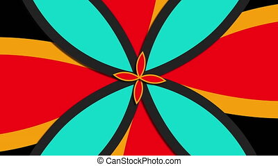 Computer generated web modern background from big and small flower shapes. Colorful pattern. 3D rendering