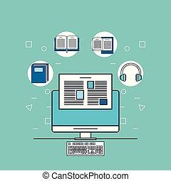 computer, gereedschap, internet
