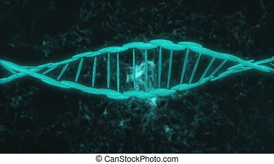 computer graphic of elements creating DNA model part - ...