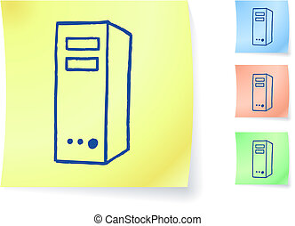 computer graphic on sticky note
