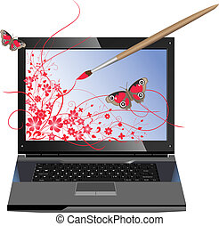 Computer graphics - Conceptual illustration of computer...