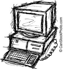 computer, grunge