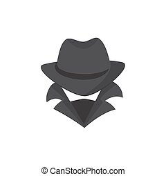 Computer hacker. An unknown man in a hat and mask.