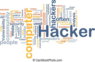 Computer hacker background concept