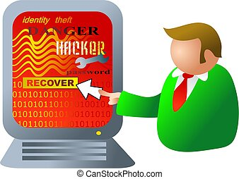 computer hacking - computer under attack