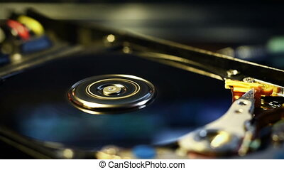 Data Storage Technology - Computer Hard Disc Drive, Data...