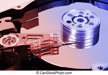Computer hard disk - abstract technology background