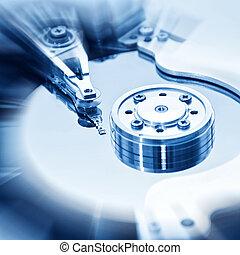 Computer hard disk - Computer Hard disk drive inside. Data...