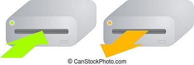 Computer hard disk sign - Creative design of computer hard...