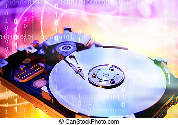 computer, hard-drive
