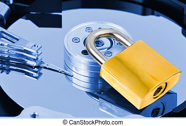 Computer harddrive and lock