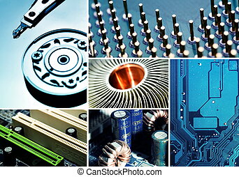 Computer Hardware Collage - Collection of Computer related...